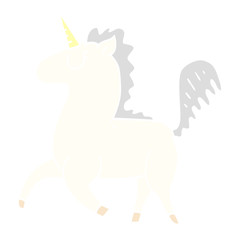 cartoon doodle unicorn
