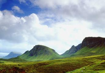The Quiraing mountain range on the Isle of Skye Scotland UK - shot on 6 x 4.5 Medium Format Film