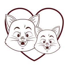 Cats cute cartoon