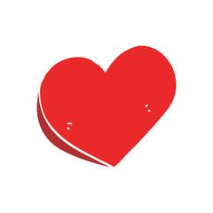 flat color style cartoon love heart