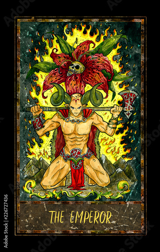 Emperor  Major Arcana tarot card  The Magic Gate deck