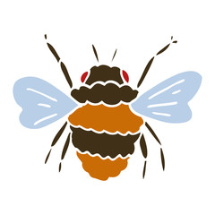 cartoon doodle bee