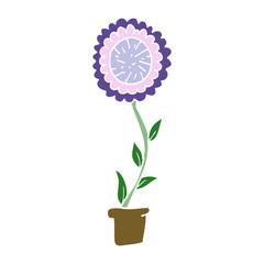 cartoon doodle flower pot