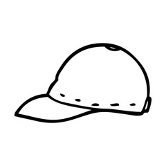 line drawing cartoon cap