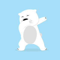 Lonely polar Bear dabbing movement