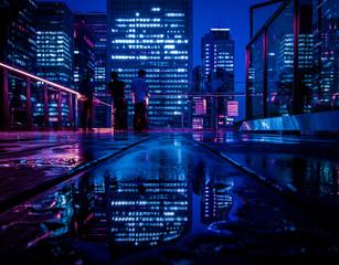 Photo sur Aluminium Tokyo Tokyo CyberPunk