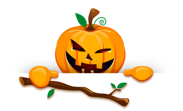 halloween pumpkin stick scary