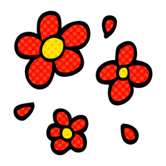 cartoon doodle decorative flowers