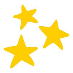 flat color style cartoon star symbols