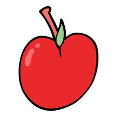 cartoon doodle of an apple