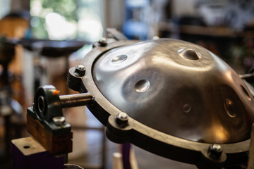 Handpan on a construction tool