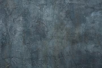 Abstract grunge art decorative design gray blue dark stucco concrete background wall texture