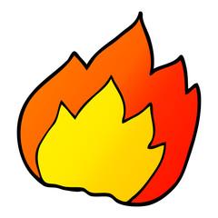 cartoon doodle fire