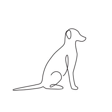 Dog line art logo