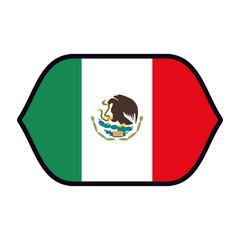 Mexico flag emblem