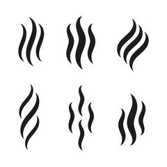 Fototapeta Smell icons. Smoke steam silhouette icon illustration