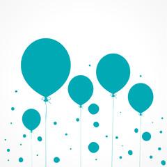 fond abstrait ballon bleu