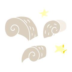 cartoon doodle swirl decorative elements