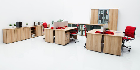 new furniture in modern office