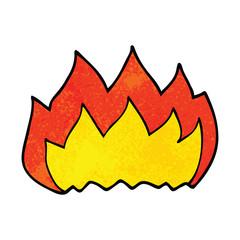 cartoon doodle hot flame