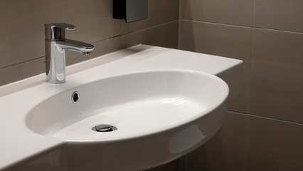 Sink washbasin bathroom clean modern faucet tap
