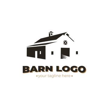 barn logo. vector design