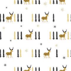 Folk seamless pattern. Scandinavian folk art pattern. Floral design with birds