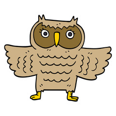 cartoon doodle wise old owl