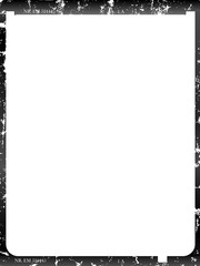 Wall Mural - old distressed large format glass negative, photo frame, empty, with space for pix