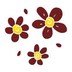 cartoon doodle flowers