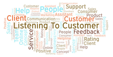 Listening To Customer word cloud.