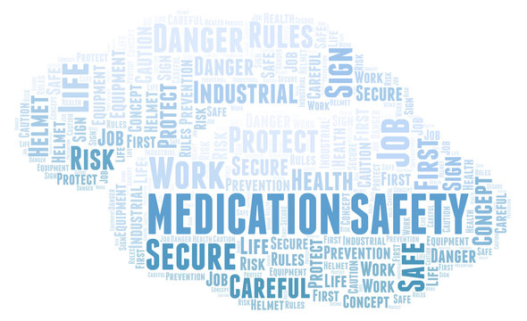Medication Safety word cloud.