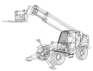 Forklift concept. Vector