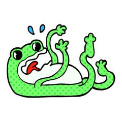 cartoon doodle frog