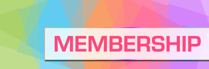 Membership Colorful Abstract Background Horizontal