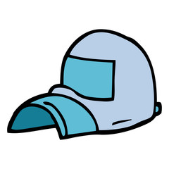 cartoon doodle cap