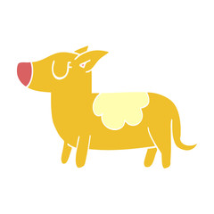 cartoon doodle standing dog