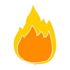flat color style cartoon fire