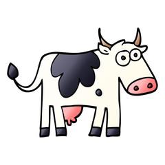 cartoon doodle farm cow