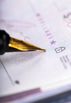 Writing The Check Close-up