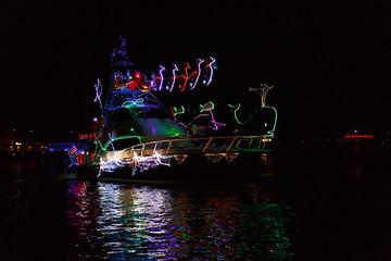 Bright Lights Christmas Boat Parade in Marina Pez Vela, Quepos, Costa Rica