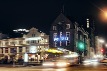 HAMBURG David Police station Streets night time exposure Europe drinking public transport harbour old house crime