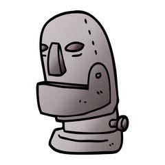 cartoon doodle robot head