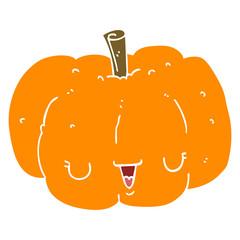 flat color style cartoon pumpkin