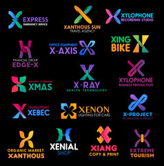 Commerce and banking business identity X letters