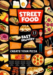 Street food and fastfood delivery service