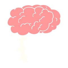 flat color illustration of a cartoon brain
