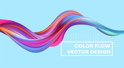 Modern colorful flow poster. Wave Liquid shape in color background. Art design for your design project. Vector illustration