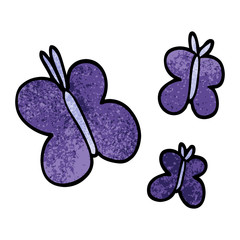 cartoon doodle butterflies