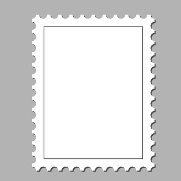 Clean postage stamp, template, background vector illustration
